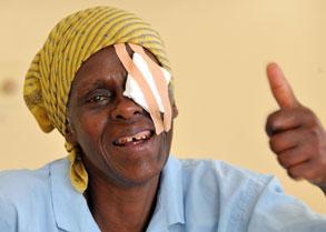 Joyce Simon Kaaya after surgery
