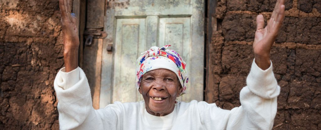 Asiamen, joyful and smiling after having her sight restored